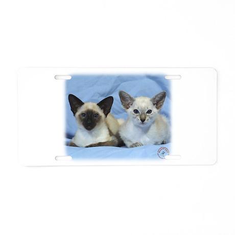 Siamese Cat 9W055D-100 Aluminum License Plate
