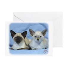 Siamese Cat 9W055D-100 Greeting Cards (Pk of 10)