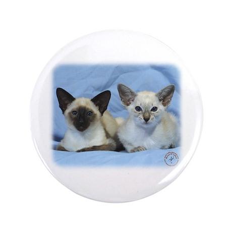 "Siamese Cat 9W055D-100 3.5"" Button (100 pack)"