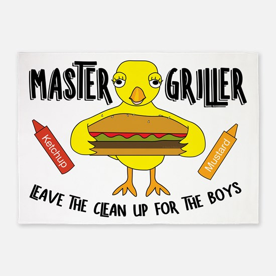 Master Griller Chick 5'x7'Area Rug