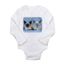 Siamese Cat 9W055D-100 Long Sleeve Infant Bodysuit