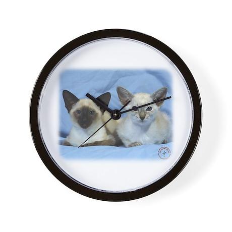 Siamese Cat 9W055D-100 Wall Clock
