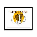 Cave Canem (Jack Russell) Framed Panel Print