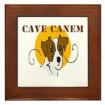 Cave Canem (Jack Russell) Framed Tile