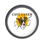 Cave Canem (Jack Russell) Wall Clock
