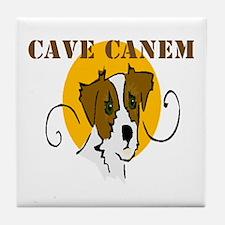 Cave Canem (Jack Russell) Tile Coaster
