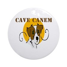 Cave Canem (Jack Russell) Ornament (Round)