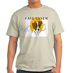 Cave Canem (Jack Russell) Ash Grey T-Shirt