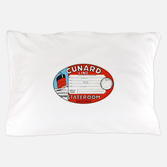 Cunard luggage tag Pillow Case