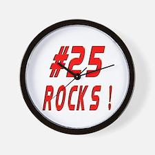 25 Rocks ! Wall Clock