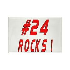 24 Rocks ! Rectangle Magnet