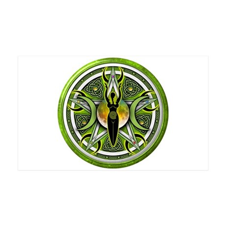 Pentacle of the Green Goddess 38.5 x 24.5 Wall Pee