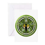 Pentacle of the Green Goddess Greeting Cards (Pk o