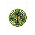 Pentacle of the Green Goddess Mini Poster Print