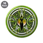 "Pentacle of the Green Goddess 3.5"" Button (10"