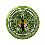 "Pentacle of the Green Goddess 3.5"" Button"