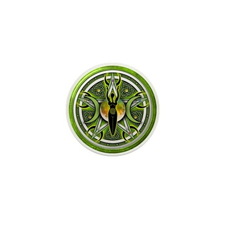Pentacle of the Green Goddess Mini Button (100 pac