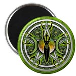 "Pentacle of the Green Goddess 2.25"" Magnet (1"