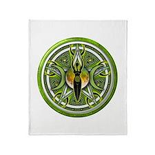 Pentacle of the Green Goddess Throw Blanket