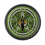 Pentacle of the Green Goddess Large Wall Clock