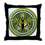 Pentacle of the Green Goddess Throw Pillow