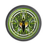 Pentacle of the Green Goddess Wall Clock