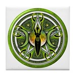 Pentacle of the Green Goddess Tile Coaster