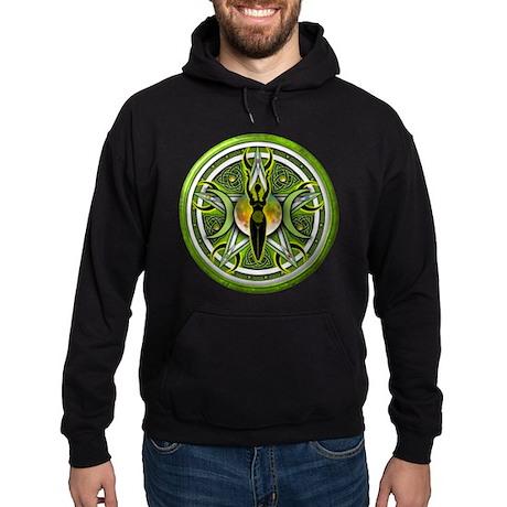 Pentacle of the Green Goddess Hoodie (dark)