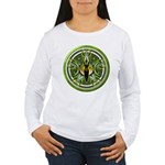 Pentacle of the Green Goddess Women's Long Sleeve
