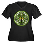Pentacle of the Green Goddess Women's Plus Size V-