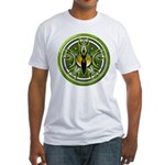 Pentacle of the Green Goddess Fitted T-Shirt