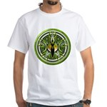 Pentacle of the Green Goddess White T-Shirt