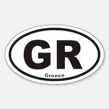 Greece GR Euro Oval Decal