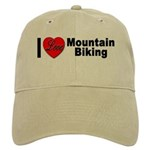 I Love Mountain Biking Cap