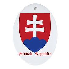 Slovak Republic Ornament (Oval)