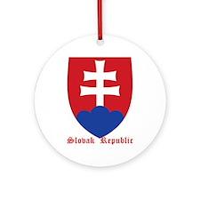 Slovak Republic Ornament (Round)