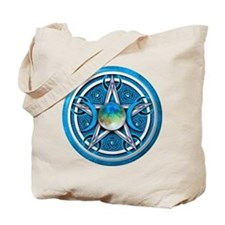 Blue Triple Goddess Pentacle Tote Bag