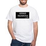 White T-Shirt/Geekus Trumpetus Black