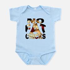 NO FAT CHICKS 1 Infant Bodysuit
