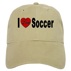 I Love Soccer Baseball Cap