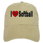I Love Softball Cap