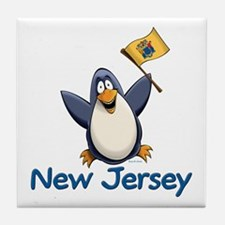 New Jersey Penguin Tile Coaster
