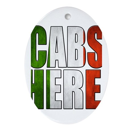 CABS HERE 2 Ornament (Oval)