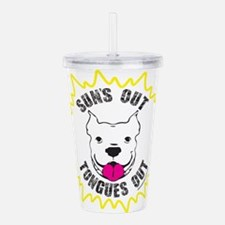 Sun's Out Tongues Out Acrylic Double-wall Tumbler