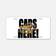 CABS HERE 3 Aluminum License Plate