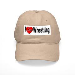 I Love Wrestling Baseball Cap