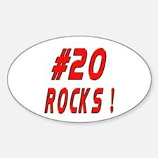 20 Rocks ! Oval Decal