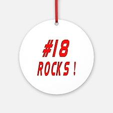 18 Rocks ! Ornament (Round)