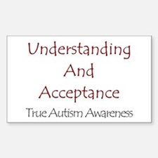 Autism Awareness Rectangle Decal