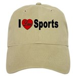 I Love Sports for Sports Fans Cap
